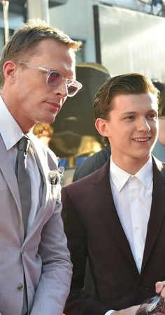 Paul Bettany and Tom Holland