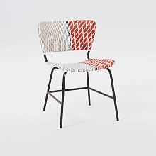 All-Weather Wicker Colorblock Woven Lounge Chair - Multi | west elm