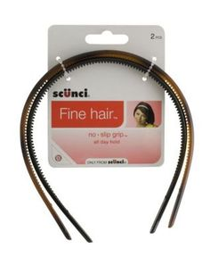Scunci Thin Hair Head Bands Rubber Grip by Scunci * Read more reviews of the product by visiting the link on the image.