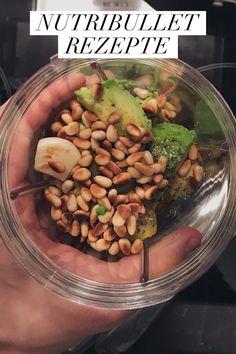 3 easy Rezepte für einen Smoothie, ein Pesto und Apfelmus. Pesto, Smoothie, Beans, Vegetables, Food, Nutribullet Recipes, Food Food, Essen, Smoothies
