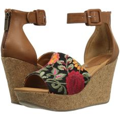 Kenneth Cole Reaction Sole Quest (Floral Embroidered) Women's Wedge... (790 SEK) ❤ liked on Polyvore featuring shoes, sandals, platform wedge sandals, wedge sandals, kenneth cole reaction sandals, platform shoes and kenneth cole reaction shoes
