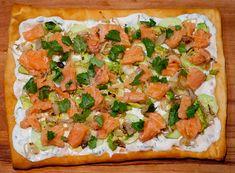 Pizza au tartare de saumon