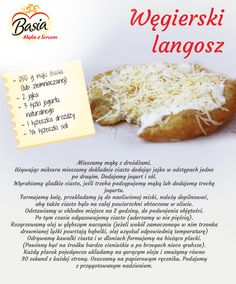 Węgierski langosz New Recipes, Nom Nom, Pierogi, Easy Meals, Food And Drink, Yummy Food, Bread, Dinner, Cooking