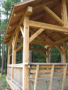 Timber Frame Construction at Shaver's Creek Environmental Center - Timber Frame Pavilions