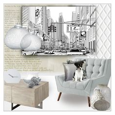 """~Grey~"" by suzanne228 ❤ liked on Polyvore featuring interior, interiors, interior design, home, home decor, interior decorating, Cole & Son, Designers Guild, Pier 1 Imports and Lene Bjerre"