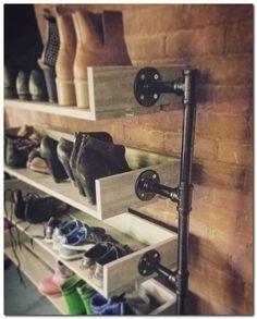 Industrie Schuhregal Schuhablage Schuhregal Shoe Organizer Source by Entryway Shoe Storage, Closet Storage, Closet Organization, Garage Shoe Storage, Organizing, Organization Ideas, Garage Closet, Car Garage, Closet Shelves