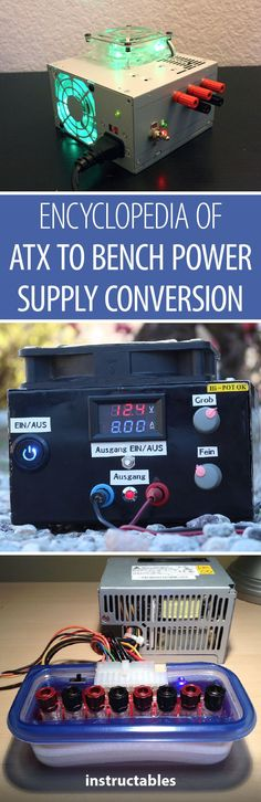 90+ tutorials on ATX to bench power supply conversion.