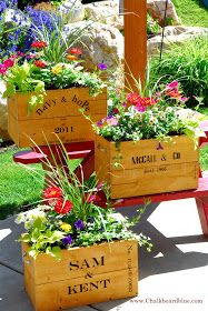 Cedar Fence Board Crates Use rope or leather pieces to make handles.