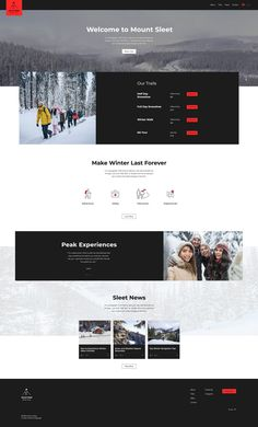 Winter Hiking Tours Website Template | Wix Website Templates