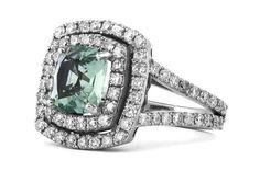 Galacia: Bespoke & Fine Diamond jewellery - Since 1994 Diamond Gemstone, Diamond Jewelry, Bespoke Jewellery, Designer Jewellery, Green Tourmaline, Mint Green, Jewelry Design, Engagement Rings, Jewels