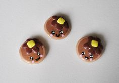 Cute Polymer Clay Pancake Mini Magnets Set by ImprssvlyPredictable, $15.00