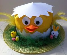 Handmade Chick Easter Bonnet Hat