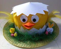 Handmade Chick Easter Bonnet Hat