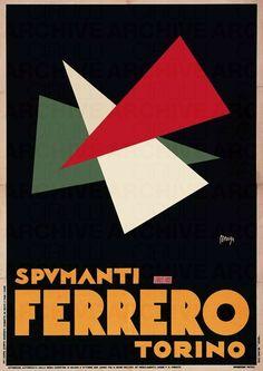 MAGA (Giuseppe MAGAGNOLI)    Spumanti Ferrero Torino, 1930