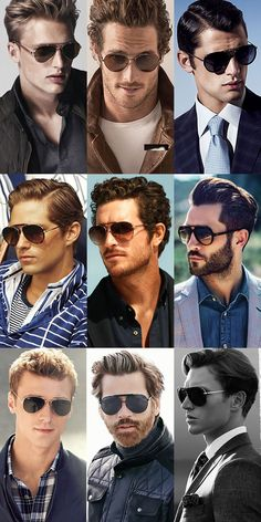 How To Wear Sunglasses - Will Suit: Oval and square face shapes. Key Brands: Oliver Peoples, Tom Ford, Ray-Ban, Jeepers Peepers, Reclaimed Vintage, Persol, Cutler and Gross, Eyevan, Acne Studios. #faceshapes #bodyshape #eyewear