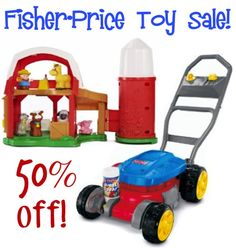 Fisher-Price Toy Sale: 50% off!! ~ stock up on some toys for your little ones, or stash away some fun gifts with these deals! #toys