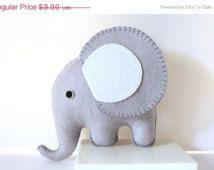 SALE Grey Felt Elephant PDF Pattern