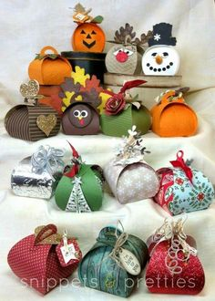 Snippets and Pretties: Curvy Keepsake boxes- Fun little handmade treat boxes for any occasion!