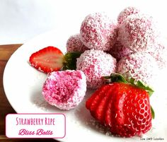 (1) Strawberry Ripe Bliss Balls - by Low Carb Lovelies