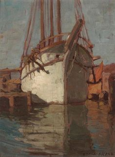 Sails Descending At Chioggia (Double Sided) By Edgar Payne . Truly Art Offers Giclee Unframed Prints on Paper, Canvas Art, and Framed Art in all our Collections. Edgar Payne, Used Sailboats, Sea Pictures, Landscape Artwork, Matte Painting, Painting Wallpaper, Framed Art, Sailing, Canvas Art