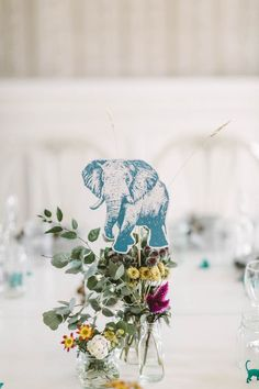 This couple incorporated animal prints and mini figurines wherever they could into their wedding decor   Image by Moment Studio