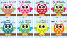 Owl Valentines {Printable} and FREE! So cute!