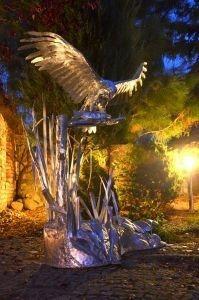 Ptaki z metalu , Vögel aus Metall , gartenfiguren tiere metall