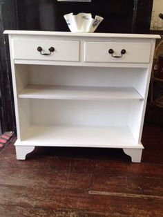 Details About Beautiful *CONSOLE TABLE* White Hallway Telephone Side End  Table Shabby Chic