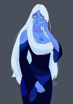 Diamante Azul Steven Universe, Blue Diamond Steven Universe, Steven Universe Drawing, Universe Art, Blue Diamond Su, Diamond Authority, Holly Blue, Soul Art, Anime Oc