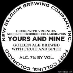 mybeerbuzz.com - Bringing Good Beers & Good People Together...: New Belgium / Nodo Neighborhood - Your And Mine