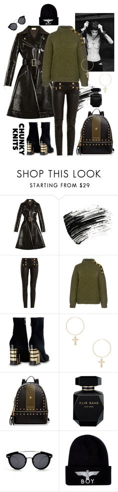 """""""dark black"""" by sofizophe ❤ liked on Polyvore featuring Sara Battaglia, Marc Jacobs, Balmain, Boutique Moschino, ERTH, MICHAEL Michael Kors, Elie Saab, Spitfire and BOY London"""
