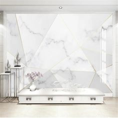 3D Mural abstract wallpaper - 120W x 75H inches / Peel & Stick Paper