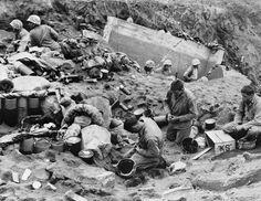 Marines Praying on Iwo Jima - BE029166 - Rights Managed - Stock Photo - Corbis