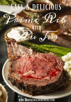 The BEST au jus recipe! Use for prime rib dip sandwiches. Prime Rib Sauce, Prime Rib Au Jus, Prime Rib Steak, Rib Recipes, Roast Recipes, Dinner Recipes, Game Recipes, Entree Recipes, Eating Clean