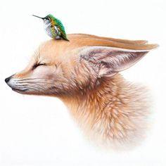 33 super Ideas for animal art fox paintings