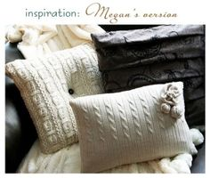 another inspiration for sweater pillows