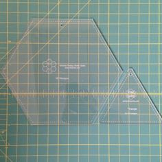 **NEW Large Hex and Triangle acrylic template set