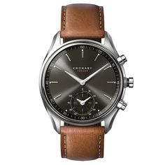 Kronaby Watch - Sekel Gun Stainless Tanned - Front