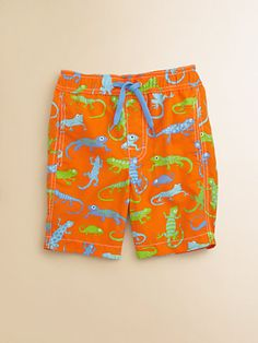 Toddler's & Little Boy's Lizards Swim Trunks