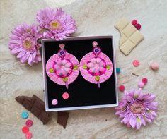 Beautiful,original,Pink ROUND tassel earrings Made for every original woman. Tassel Earrings, Tassels, Jewelery, Pink, Handmade, Etsy, Beautiful, Jewelry, Jewels