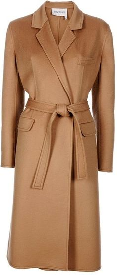 Must Have A Long Carmel Coat This One Is From YSL