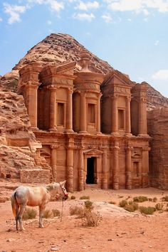 Petra, Jordan. I probably won't be traveling in the Middle East anytime soon, but I can still dream