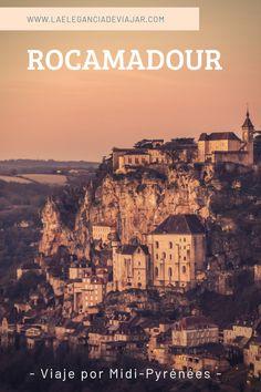 Rocamadour está considerado uno de los pueblos más bonitos de Francia y es además un importante centro de peregrinación.  #francia #viajarfrancia #viaje #viajar #amanecer #lugaresquevisitar #rocamadour #midipyrenees #fotosdeviaje #fotografia Pyrenees, Paris Skyline, Places To Go, Travel, Medieval Town, Medieval Castle, Southern France, House Architecture, Dawn