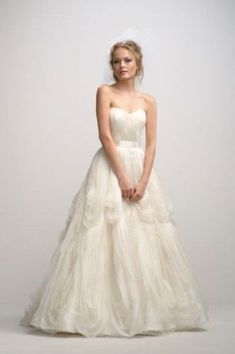 8a3a63b70e68 Washed silk organza gown with a sweetheart neckline and softly pleated  bodice