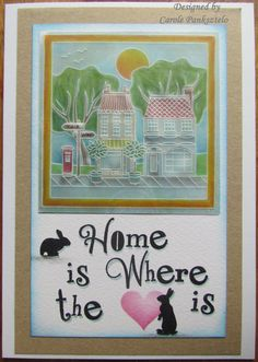 Handmade card Home is where the heart is New by CraftyMrsPanky High Street Shops, Spectrum Noir, Moving House, Card Envelopes, Where The Heart Is, Colored Pencils, I Card, Embellishments, New Homes