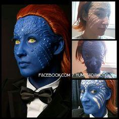 Amazing Mystique makeup