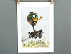 Such a cute print for a little boy's room. He'll treasure it forever. Classic car art print by Terrapin, Toad, Limited Edition Prints, Little Boys, Classic Cars, Art Prints, Unique Jewelry, Handmade Gifts, Cute
