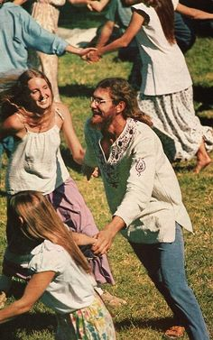 """My novel """"Hippie Drum"""" is inspired by experiences like this. Dancin' in the round ... hippies meet folk traditions."""