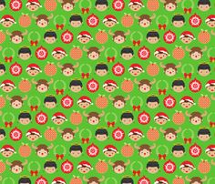 A Very Supernatural Christmas fabric by brucelovesyou on Spoonflower - custom fabric