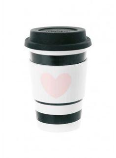 Miss Ètoile - Kaffeebecher To Go Herz/Streifen